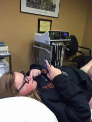 Abby Bluteau getting treatment_2015