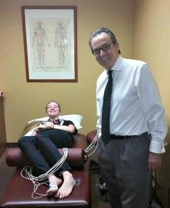 Katia getting treatment